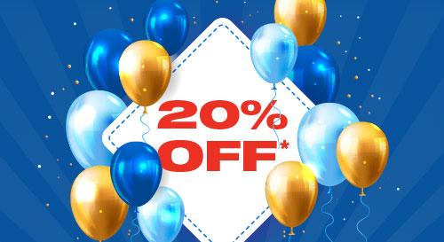 20% Off*